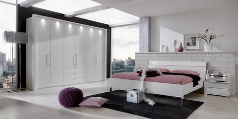 Schlafzimmer Modern Schranksystem Loft Alpinweiß