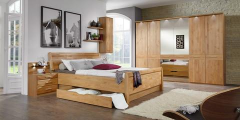Schlafzimmer Klassisch Modern Toledo Erle Teilmassiv Kristallspiegel