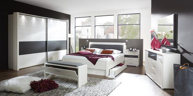 Bei uns bekommen Sie ein modernes Schlafzimmer ...