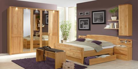 schlafzimmer klassisch lausanne erle teilmassiv parsol bronze spiegel - Schlafzimmer Bank Erle