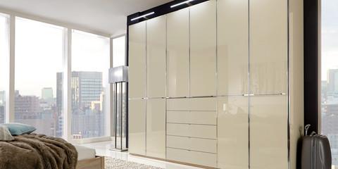 Schlafzimmer Modern Schranksystem Shanghai Eiche Sägerau Glas Magnolie