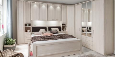 Schlafzimmer Klassisch Luxor3+4 Polarlärche Kristallspiegel
