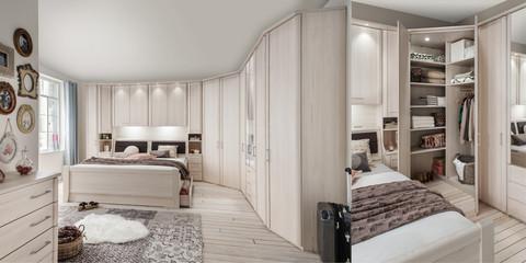 Erleben Sie das Schlafzimmer Luxor 3+4 | Möbelhersteller Wiemann