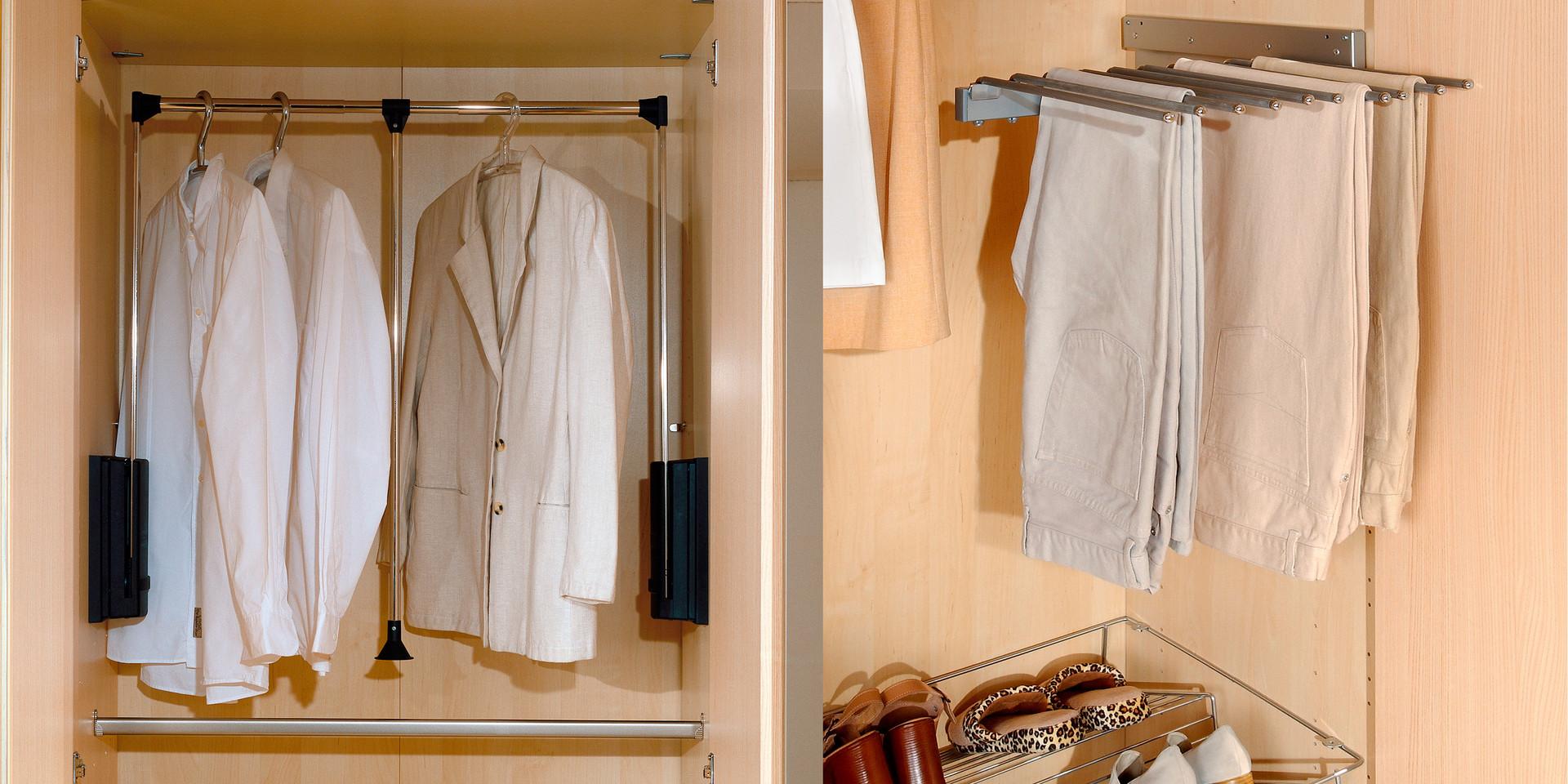 Ungewöhnlich Kleiderschrank Ausziehbarer Kleiderstange Ideen - Die ...