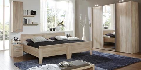 Schlafzimmer Klassisch Meran Eiche Sägerau Kristallspiegel