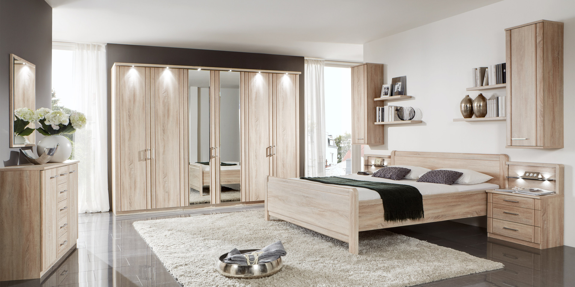 wohnzimmer wandgestaltung braun. Black Bedroom Furniture Sets. Home Design Ideas