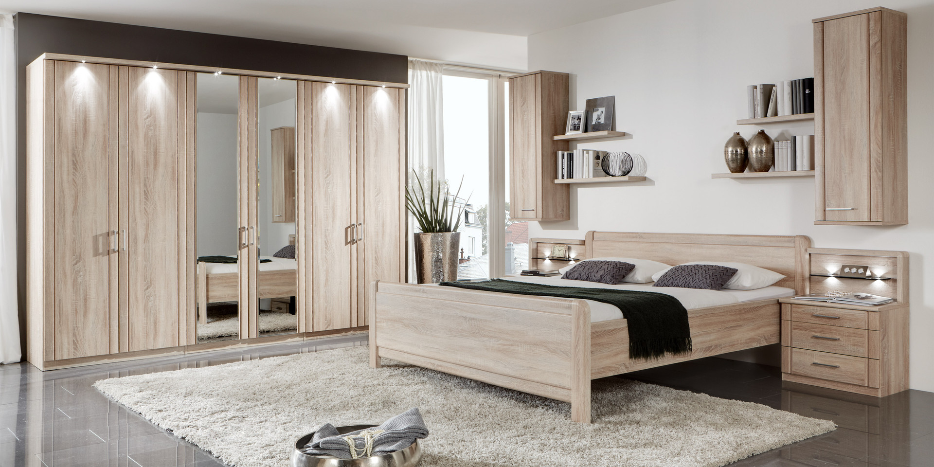 wohnzimmer wei hochglanz. Black Bedroom Furniture Sets. Home Design Ideas