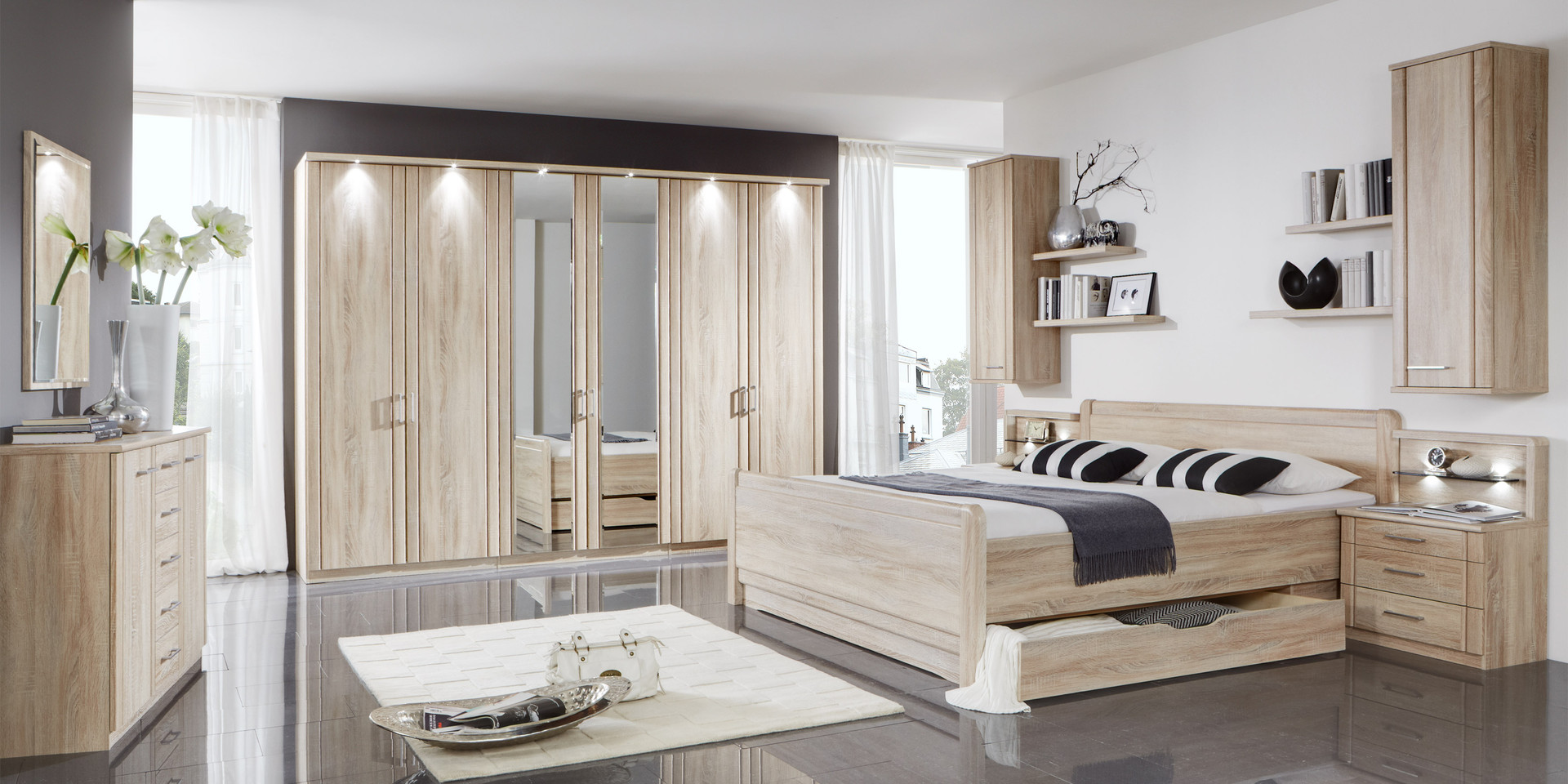 erleben sie das schlafzimmer valencia m belhersteller wiemann. Black Bedroom Furniture Sets. Home Design Ideas